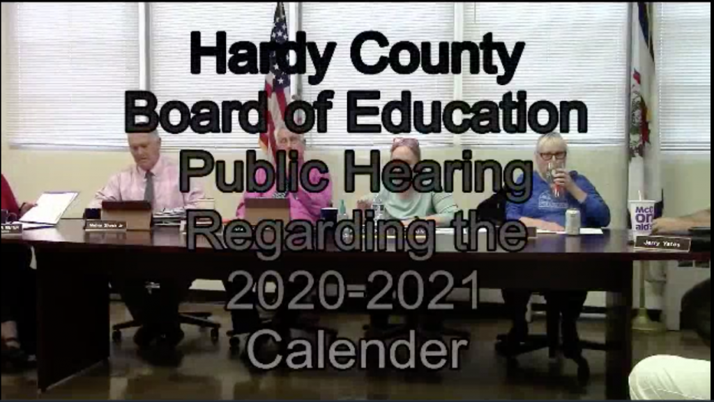 Hardy County Board Education Meeting March 2020