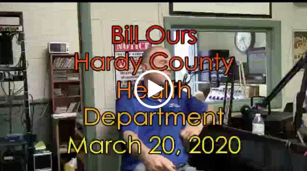 Bill Ours Hardy County Health Department Update on COVID-19